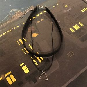 Jewelry - Boho choker with triangle drop